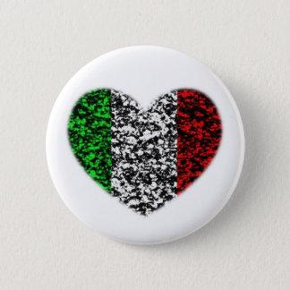 Italy Heart 6 Cm Round Badge