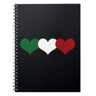 Italy Heart Notebooks