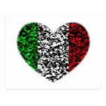 Italy Heart Post Card