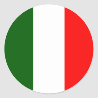 Italy High quality Flag Round Sticker
