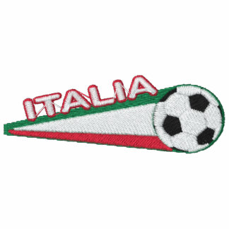 Italy italia Embroidered stripes and ball Hoody