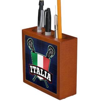Italy Italia Flag Lacrosse Logo Desk Organisers