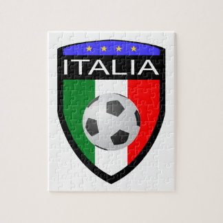 Italy / Italia Flag Patch - with soccer ball Jigsaw Puzzle