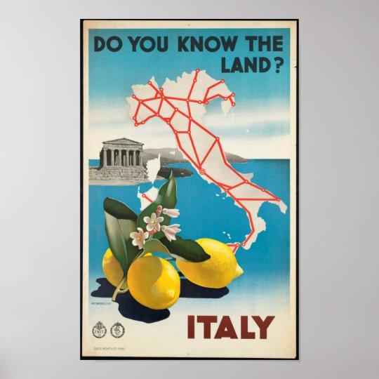 Italy - Italia vintage travel Poster