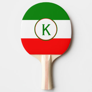 Italy Italian Flag Design with your Initials Ping Pong Paddle