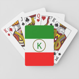 Italy Italian Flag Design with your Initials Poker Deck