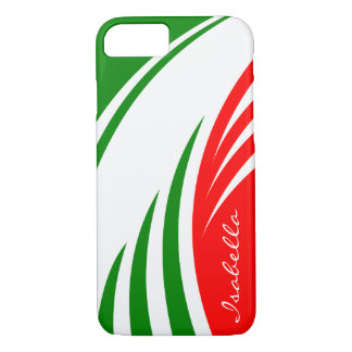 Italy Italian Flag Design with your Name iPhone 8/7 Case