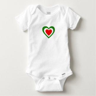 Italy/Italian flag-inspired Hearts Baby Onesie