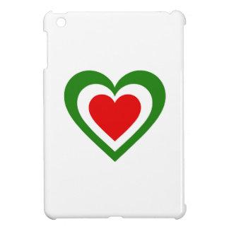 Italy/Italian flag-inspired Hearts iPad Mini Cover
