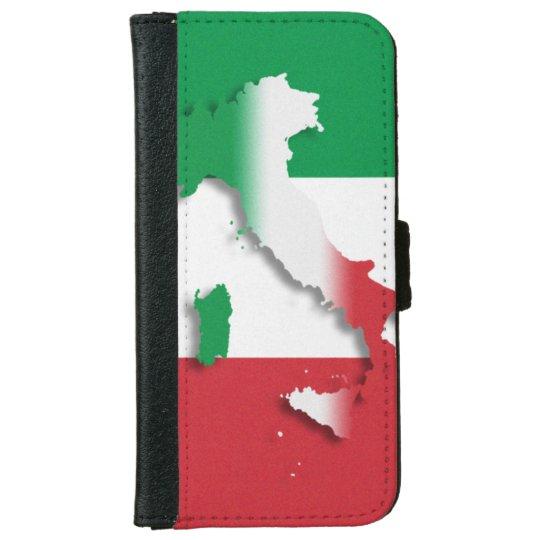 Italy Italian Flag iPhone 6 Wallet Case