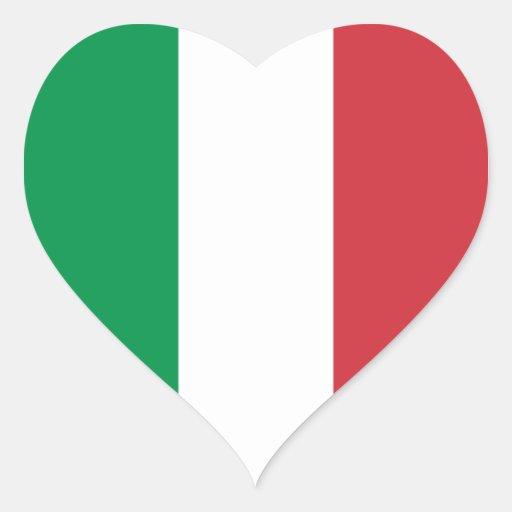 Italy/Italian Heart Flag Heart Sticker