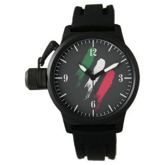 Italy Italian Italia Flag Tricolore Design Wrist Watches