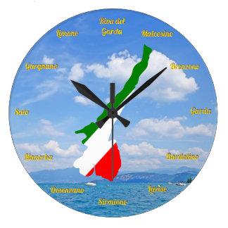 Italy Italian Italia Flag Tricolore Photo Design Large Clock