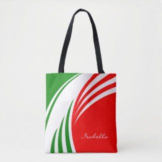 Italy Italian Italia Flag with your Initials Tote Bag