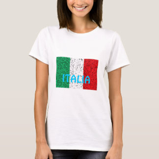 Italy Italian stylised flag tshirt
