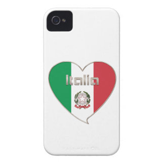Italy ITALY Souvenir NATIONAL FLAG in heart iPhone 4 Case-Mate Cases