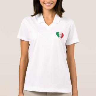 Italy ITALY Souvenir NATIONAL FLAG in heart Polos