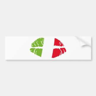 italy kiss bumper sticker