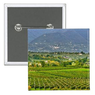 Italy, Lake Garda. The shores of Lake Garda are 15 Cm Square Badge