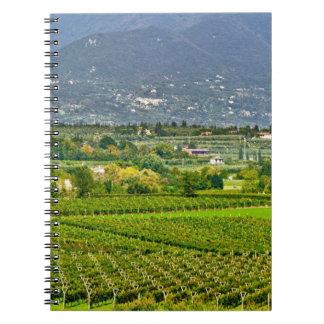 Italy, Lake Garda. The shores of Lake Garda are Notebook