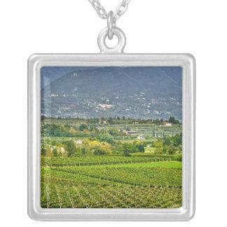 Italy, Lake Garda. The shores of Lake Garda are Square Pendant Necklace