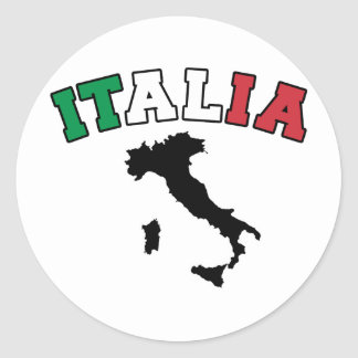 Italy Land Classic Round Sticker