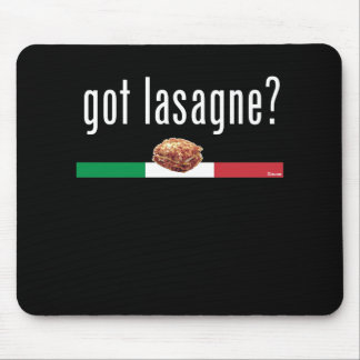ITALY Lasagne WHITE Mouse Pad