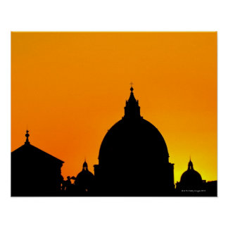 Italy Lazio Rome St Peter s Cathedral Poster