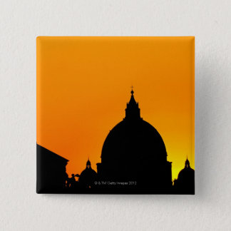 Italy, Lazio, Rome, St Peter's Cathedral 15 Cm Square Badge