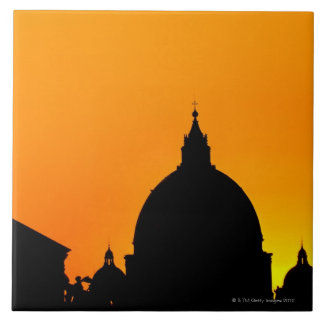 Italy, Lazio, Rome, St Peter's Cathedral Large Square Tile