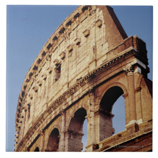 Italy,Lazio,Rome,The Colosseum at sunset Large Square Tile