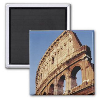 Italy,Lazio,Rome,The Colosseum at sunset Square Magnet