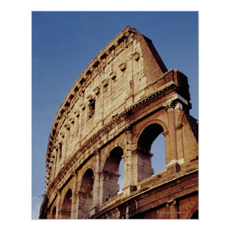 Italy Lazio Rome The Colosseum at sunset Posters