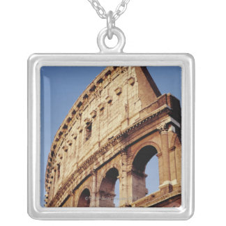Italy,Lazio,Rome,The Colosseum at sunset Silver Plated Necklace