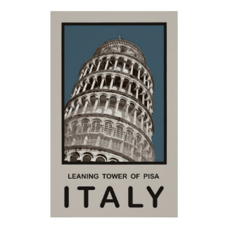 Italy Leaning Tower of Pisa Posters