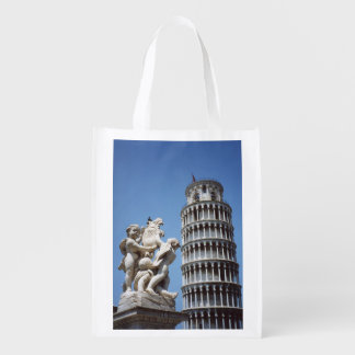 Italy Leaning Tower of Pisa Souvenir Reusable Grocery Bags
