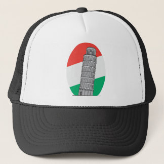 Italy Leaning Tower of Pisa Trucker Hat