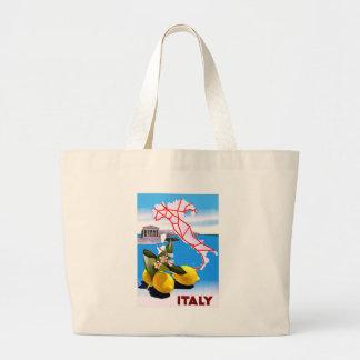 Italy Lemon Roman Temple Flower Jumbo Tote Bag