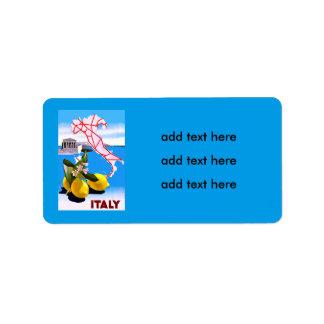 Italy Lemon Roman Temple Flower Label