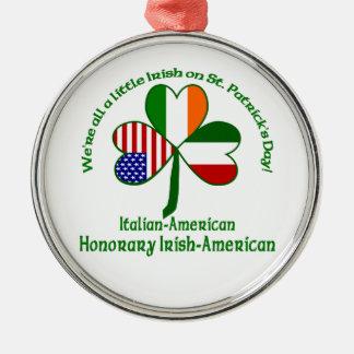 Italy Little Irish Silver-Colored Round Decoration
