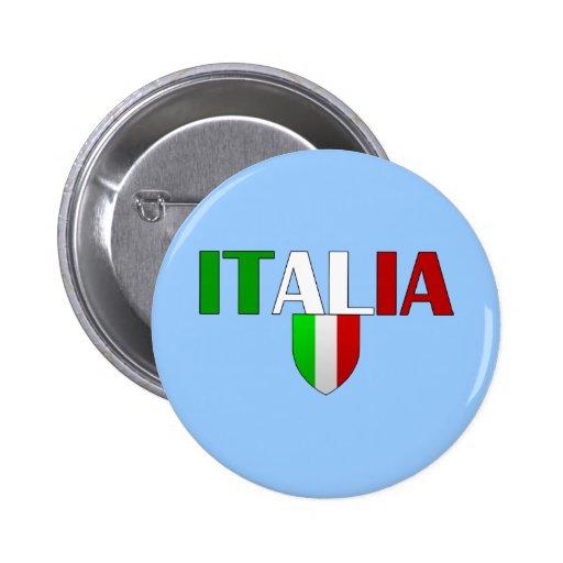 Italy logo flag of Italy shield for Italians 6 Cm Round Badge