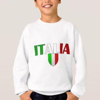 Italy logo flag of Italy shield for Italians Sweatshirt