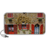 Italy, Lucignano, Red Shutters and Harvest iPod Speakers
