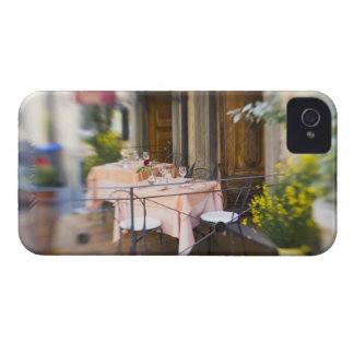 Italy, Lucignano, Selective Focus of Sidewalk iPhone 4 Case-Mate Cases