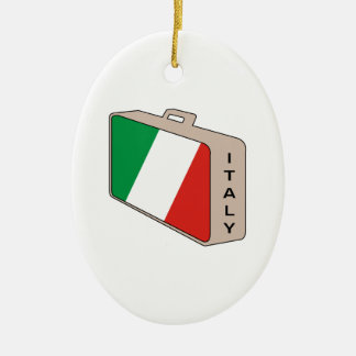 Italy Luggage Christmas Ornament
