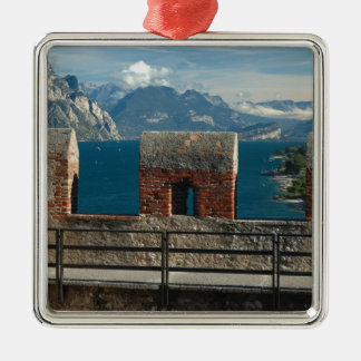 Italy, Malcesine, view from castle of Lake Christmas Ornament