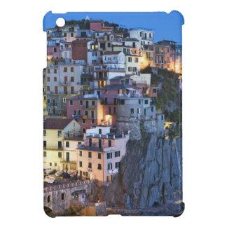 Italy, Manarola. Dusk falls on a hillside town iPad Mini Cases