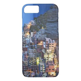 Italy, Manarola. Dusk falls on a hillside town iPhone 7 Case