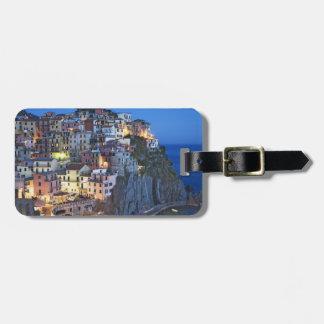 Italy, Manarola. Dusk falls on a hillside town Luggage Tag