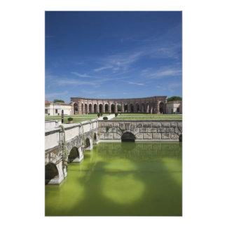 Italy, Mantua Province, Mantua. Courtyard, Photo Art